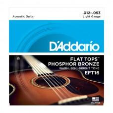 D`ADDARIO EFT16 FLAT TOPS LIGHT 12-53