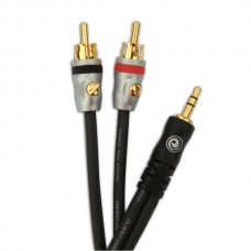 PLANET WAVES PW-MP-05 Custom Series Dual RCA to Stereo Mini Cable 0.5ft
