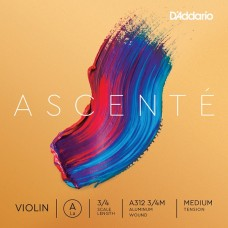 D`ADDARIO A312 3/4M Ascenté Violin String A 3/4M